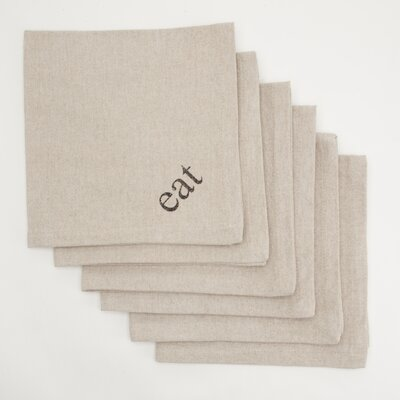 Provence Home Collection Eat Dinner Napkin (Set of 6)
