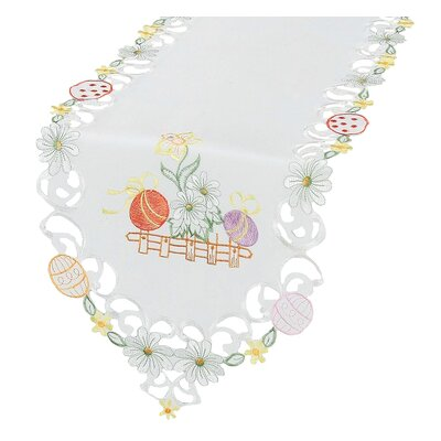 Country Egg Embroidered Cutwork Table Runner
