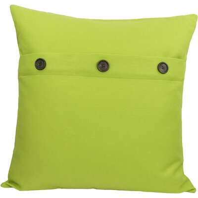 Solid Color with Buttons Feather Fill Pillow