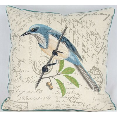 Avian Blue Bird Cotton Pillow