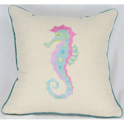 Manor Luxe Archipelago Seahorse Cotton Pillow