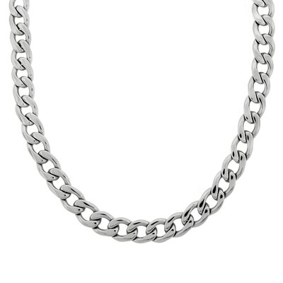 GoldnRox Stainless Steel Thick Curb Link Necklace