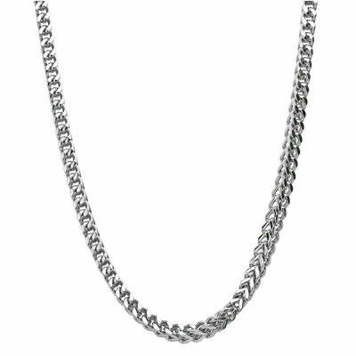 GoldnRox Stainless Steel Thick Foxtail Chain Necklace