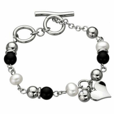Cultured Pearls Heart Bracelet Bracelet