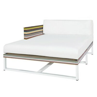 Stripe Right Chaise Lounge with Cushion