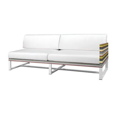 Stripe Aluminum / Mesh Left Sectional with Cushion