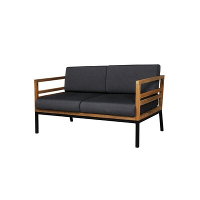 Mamagreen Zudu 2-Seater Lounge Chair with Cushion in Coal
