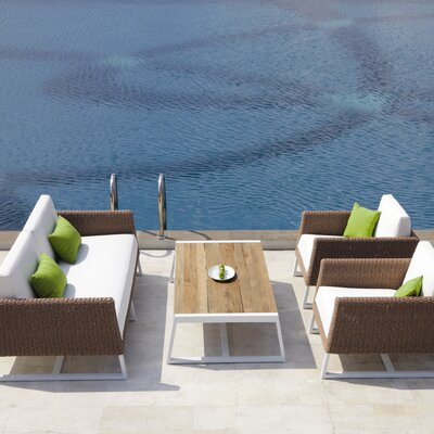 Mamagreen Baia 4 Piece Seating Group with Cushions