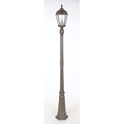 "GamaSonic Victorian 1 Light 87"" Solar Post Lantern Set"