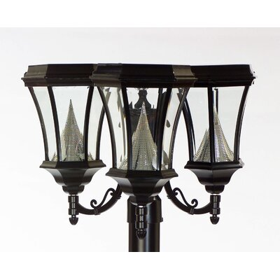 GamaSonic Victorian 40 Light Solar Post Lantern