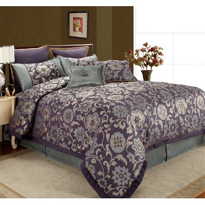 Rachel 8 Piece Queen Comforter Set