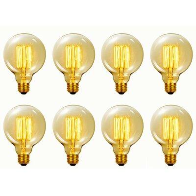 Vintage Edison 60 Watt (2700K) G40 Vanity Tungsten Incandescent Filament Light Bulb Wayfair