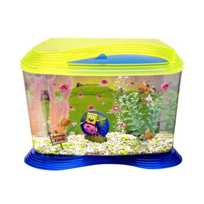 Penn Plax Nickelodeon SpongeBob SquarePants Jellyfish Fields Aquarium Kit