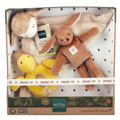 Miyim Nursery 3 Piece Infant Plush Gift Set