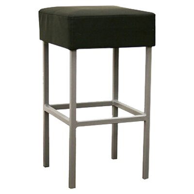 Wholesale Interiors Baxton Studio Andante Faux Leather Counter Stool in Black