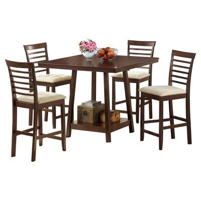 baxton studio 5 piece counter height dining set reviews wayfair