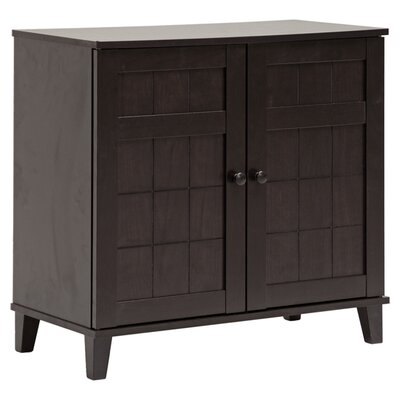 <strong>Wholesale Interiors</strong> Baxton Studio Glidden Wood Modern Shoe Cabinet