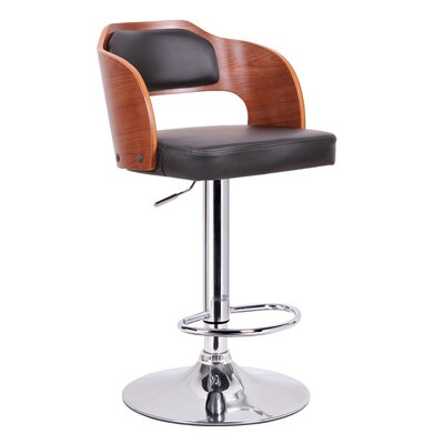 "Wholesale Interiors Baxton Studio Sitka 34"" Adjustable Swivel Bar Stool"