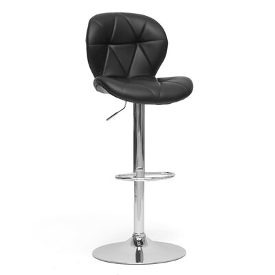 Baxton Studio Warsaw Modern Adjustable Swivel Bar Stool with Cushion (Set of 2)