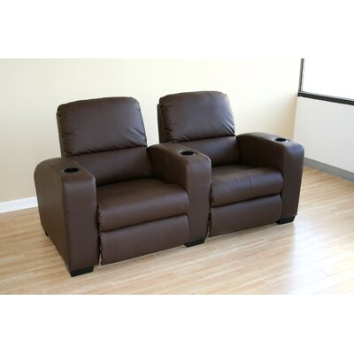 Wholesale Interiors Barnardine Home Theater Recliner (Row of 2)
