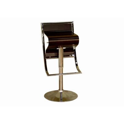 Chenin Low - Back Adjustable Height Barstool in Brown