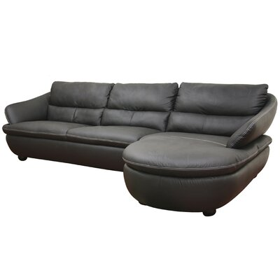 Wholesale Interiors Caramello Leather Sectional