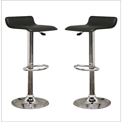 Wholesale Interiors Baxton Studio Vita Faux Leather Barstool in Black (Set of 2)