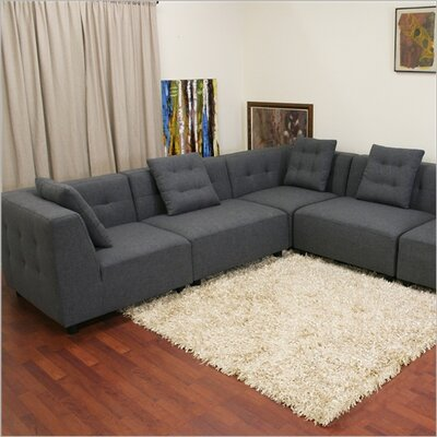 Wholesale Interiors Baxton Studio Alcoa Twill Modular Sectional