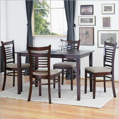 Wholesale Interiors Baxton Studio Cathy 5 Piece Modern Dining Set