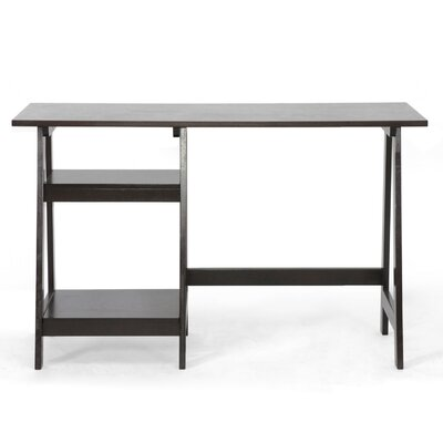 Wholesale Interiors Baxton Studio Small Mott Wood Modern Writing Desk with Sawhorse Legs