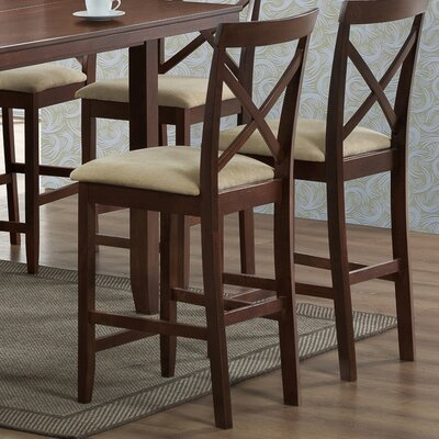 Wholesale Interiors Baxton Studio Natalie Wood Modern Counter Stool (Set of 2)