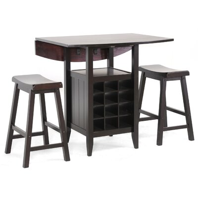 Wholesale Interiors Baxton Studio Reynolds Modern Drop-Leaf Pub Set