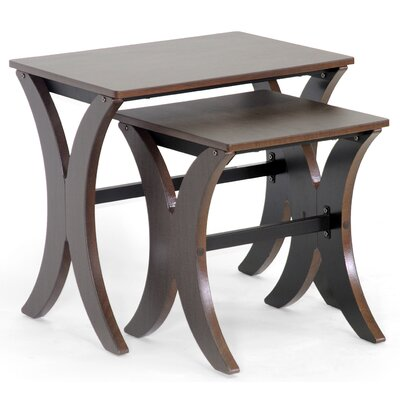 Wholesale Interiors Xavier 2 Piece Nesting Tables