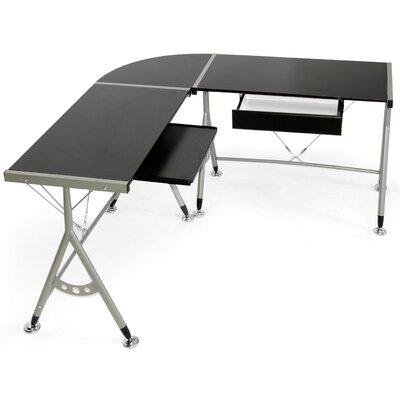"Wholesale Interiors Baxton Studio Elburn L-Shaped Modern 58"" W x 58"" D Computer Table"