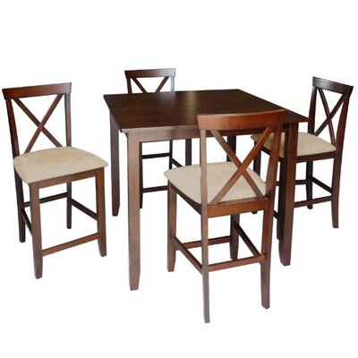 Wholesale Interiors Baxton Studio Natalie 5 Piece Counter Height Dining Set