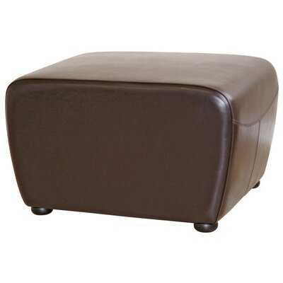 <strong>Wholesale Interiors</strong> Nathaniel Square Leather Ottoman