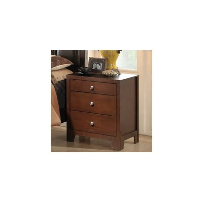 Wholesale Interiors Baxton Studio Butler 3 Drawer Nightstand
