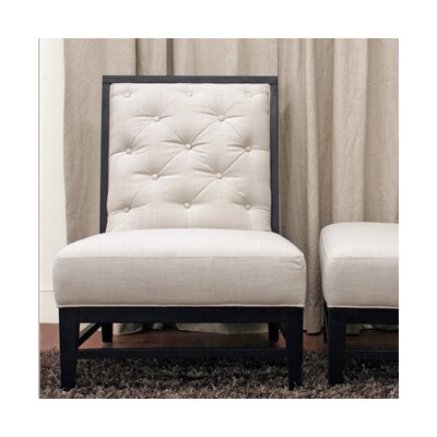 Wholesale Interiors Baxton Studio Bristol Tufted Modern Fabric Slipper Chair