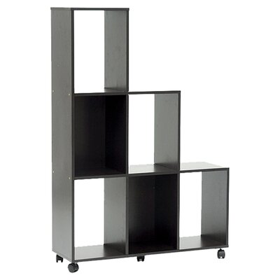 Wholesale Interiors Baxton Studio Hexham Rolling Display Shelving Unit and Room Divider