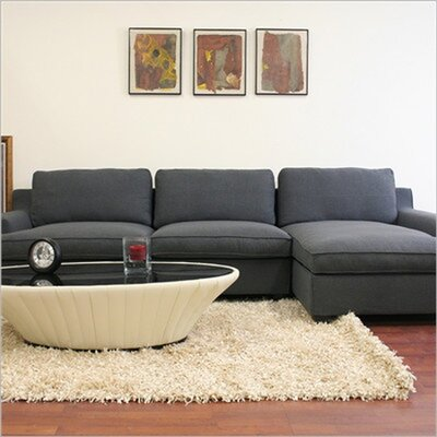 Baxton Studio Kaspar Cotton Sectional