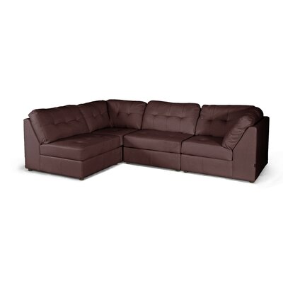 Wholesale Interiors Baxton Studio Warren Leather Modular Sectional