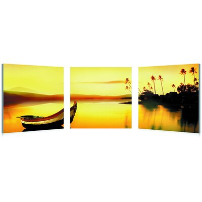 Baxton Studio Golden Sunset Mounted Photography Print