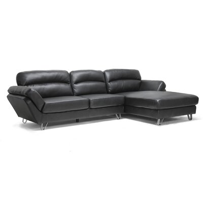 Baxton Studio Raimey Modern Leather Sectional Sofa