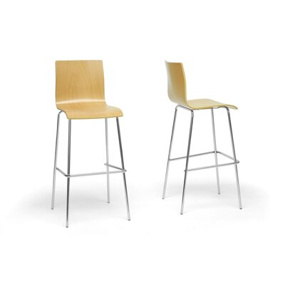 Baxton Studio Sydney Plywood Modern Bar Stool (Set of 2)