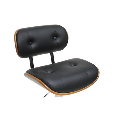 "Wholesale Interiors Baxton Studio Leona Modern 27"" Adjustable Swivel Bar Stool"
