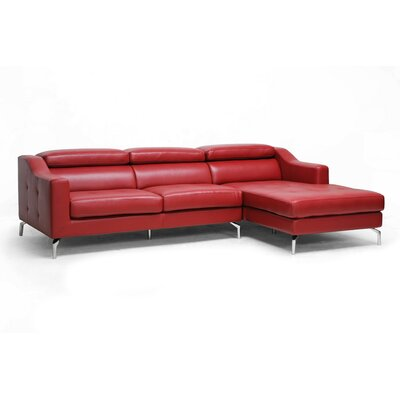 Wholesale Interiors Baxton Studio Levi Leather Sectional