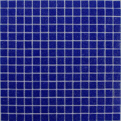 "Giorbello Classic Tesserae 12-7/8"" x 12-7/8"" Glass Tile in Cobalt Blue"