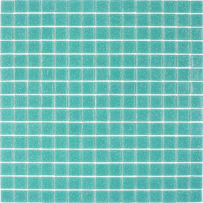 Giorbello Classic Tesserae Glass Tile in Light Teal