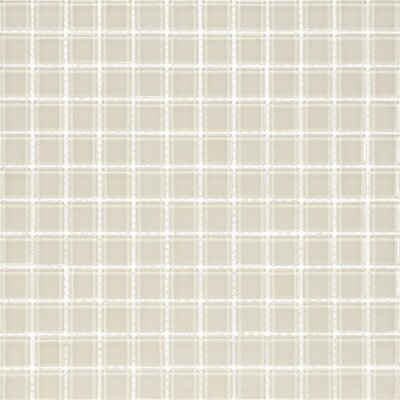 Cristezza Classic Glass Tile in Light Taupe