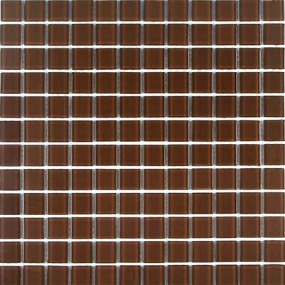Cristezza Classic Glass Tile in Milk Chocolate